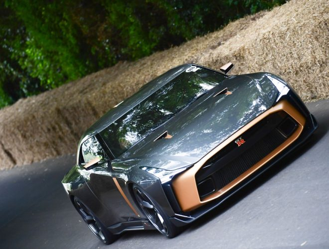 Nissan GT-R50 by Italdesign running the Goodwood Festival of Speed course