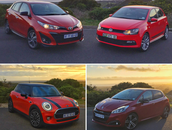 VW POLO VIVO GT, TOYOTA YARIS SPORT, PEUGEOT 208 GT LINE, MINI COOPER FEATURED