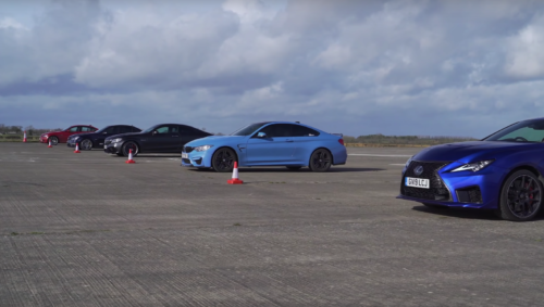 DRAG RACE: BMW M4 vs LEXUS RC-F vs MERCEDES-AMG C63 S vs OLD C63 vs OLD M3
