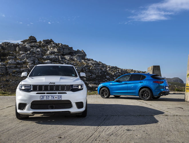 Jeep Trackhawk and Alfa Romeo Stelvio Q